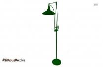 Retro Floor Lamp Silhouette