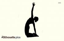 Revolved Camel Yoga Pose - Forte Yoga Silhouette
