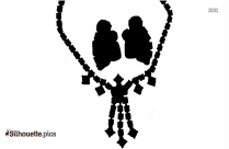 Garland Necklace Silhouette Drawing