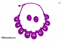 Necklace Silhouette Vector Art And Graphics
