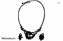 Black Rhinestone Necklace Silhouette Image