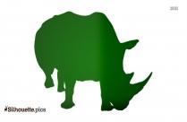 Baby Rhino Clipart Silhouette