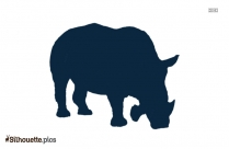 Riding Rhino Silhouette Art