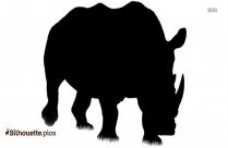 Clipart Rhinoceros Silhouette
