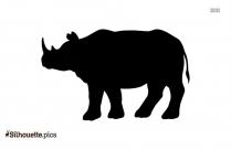 Rhino Silhouette Black And White