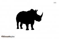 Rhinoceros Silhouette Background
