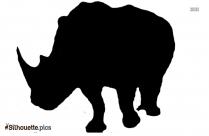 Rhinoceros Silhouette Drawing