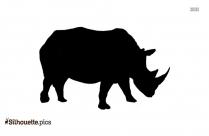 Rhinoceros Silhouette Illustration