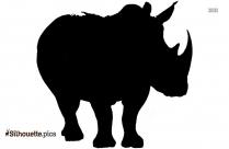 Rhinoceros Black And White Silhouette