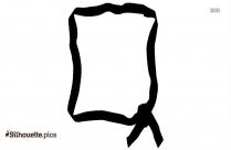 Ribbon Border Frame Design Clip Art