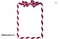 Ribbon Border Silhouette Clipart