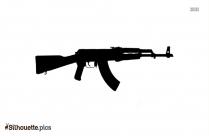 Black And White Potato Digger Gun Silhouette