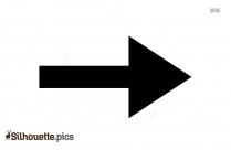 Short Bold Right Arrow Silhouette Picture