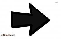 Right Arrow Symbol Silhouette Vector