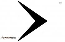 Right Arrowhead Symbol Silhouette Icon