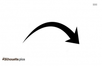 Right Curved Arrow Silhouette Vector