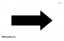 Right Turn Arrow Silhouette Clipart