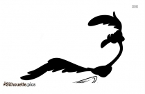 Black Road Runner Silhouette Image