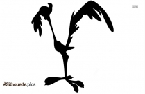 Road Runner Cartoon Silhouette Clipart