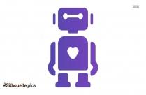 Robot Icon Clipart Silhouette