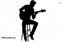 Rock Guitar Player Silhouette Icon