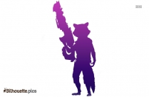 Rocket Raccoon Silhouette Clipart Vector