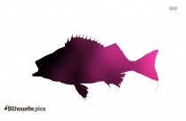 Black Fish Icon Silhouette Image