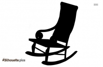 Chair Rocking Silhouette Black And White