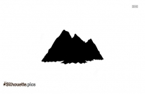 Mountain Peak Silhouette Clipart