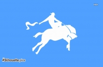 Rodeo Rider Silhouette Outline Drawing
