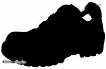 Safety Shoes Vector Silhouette