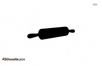 Rolling Pin Silhouette Clipart