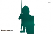 Roman Soldier Silhouette Clipart
