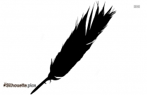 Rooster Tail Feathers Silhouette Clipart