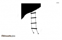 Rope Ladder Silhouette Clipart