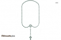 Rosary Beads Silhouette