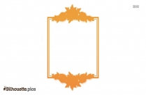 Rose Border Vector Silhouette Clip Art