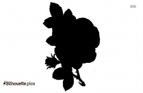 Flower And Leaf Silhouette Icon