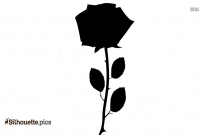 Rose Flower Vector Silhouette Image