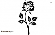 Rose Flower Silhouette Vector