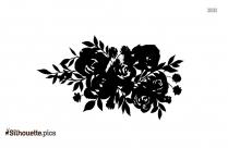 Rose Garland Silhouette Image
