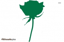 Cartoon Rose Silhouette Vector