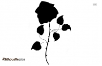 Rose Stem Logo Silhouette For Download