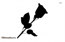 Rose Stem Silhouette Free Vector Art