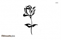 Black Rose Silhouette Image, Vector Art