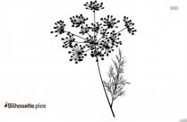 Floral Decoration Clipart Image Silhouette