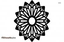 Rosette Geometric Shape Silhouette