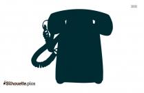 Rotary Phone Clipart || Landline Phone Silhouette