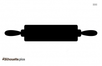 Rolling Stick Silhouette Free Vector Art