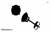 Black And White Zircon Earrings Silhouette